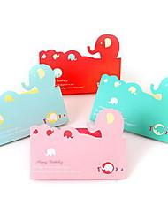 Exquisite Elephant Greeting Cards(Random Colors)