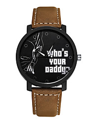 Student Watch Men Sport Watches Leather Wristwatch Clock Hours Quartz Watches who's your daddy Word Watch Cool Watch Unique Watch Fashion Watch
