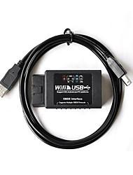 ELM327 WiFi инструмент OBD автомобиля USB сканер с USB-кабель WiFi автоматический детектор