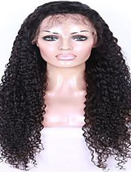 130%  density Brazilian Virgin Hair Lace Front Wig Natural Black Color New Cap Style Curly Human Hair Wigs