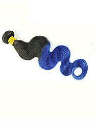 "6A Indian Raw Human Hair 10""-26"" Purple Ombre Body Wave"