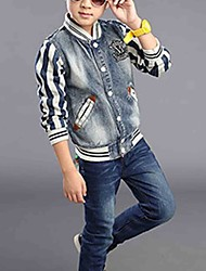 Boy's Casual/Daily Print Jeans / Suit & Blazer,Cotton Fall Blue