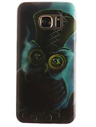 Pour Samsung Galaxy S7 Edge Motif Coque Coque Arrière Coque Chouette Flexible PUT pour SamsungS7 edge S7 S6 edge S6 S5 Mini S5 S4 Mini S4
