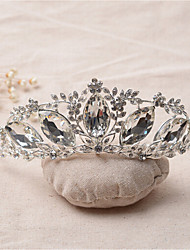Women's Rhinestone / Alloy Headpiece-Wedding / Special Occasion Tiaras 1 Piece Clear Irregular 16