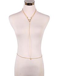 Femme Bijoux de Corps Chaîne de ventre Chaîne de Corps Alliage Bikini Simple Style Mode Or Bijoux Quotidien Décontracté 1pc
