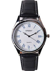 Men's Fashion Casual Leather Strap Watch
