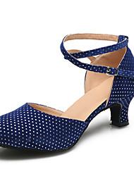 Women's Dance Shoes Suede Suede Latin / Modern Heels Stiletto Heel Practice / Indoor Black / Blue / Red