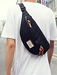 Men Canvas Formal Waist Bag Black