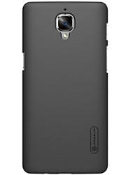 Para Funda OnePlus Other Funda Cubierta Trasera Funda Un Color Dura Policarbonato para OnePlus One Plus 3 Uno Plus X