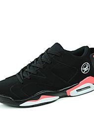 Sapatos Masculinos-Tênis-Branco / Preto e Vermelho / Preto e Branco-Microfibra-Ar-Livre / Casual / Para Esporte