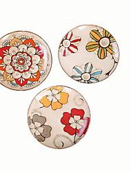 (Colori casuali) appeso piatto di ceramica retrò personalizzato dipinti a mano