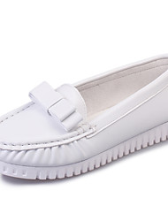 Women's Shoes Leatherette Spring / Fall Comfort / Round Toe Flats Outdoor / Office & Career / Casual Low Heel