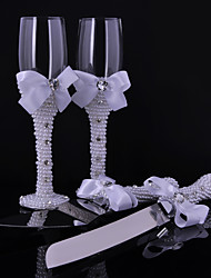 Bowknot Pearl Cups Knife And Fork Combination