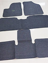 S500 Seven Car Mats, Linen Carpet, PVC Anti Slip Rubber Sole