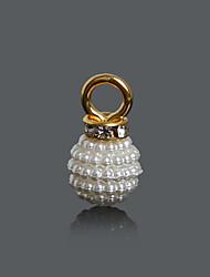 Beadia 10x18mm ABS Imatation Pearl Charm Pendant (10Pcs)