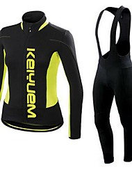 KEIYUEM®Spring/Summer/Autumn Long Sleeve Cycling Jersey+long Bib Tights Ropa Ciclismo Cycling Clothing Suits #L49