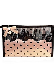 Women PU Formal Cosmetic Bag Pink