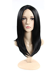 Middle Part #1 Long Straight Cap Synthetic Wigs For Woman