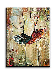 Hand-Painted Ballet Dancer Abstract Painting Art Oil Painting