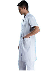 Men And Women Short-Sleeved Summer Dress White Coat Doctors Lab Coat Nurse Physician Medication Shop Clothes