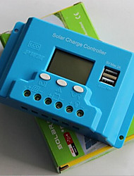 10a, contrôleur de panneau solaire lcd 12v / 24v, usb, 5v