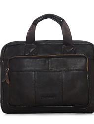 Men Cowhide Formal / Casual / Office & Career / Shopping Laptop Bag Brown / Black