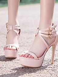 женская обувь коровьей шпильках пятки платформы / Slingback сандалии партии&вечер / платье синий / розовый