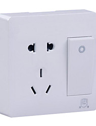 86 Surface Mounted Wall Switch Socket A Single Control Switch To Open Five-Hole Socket With Switch