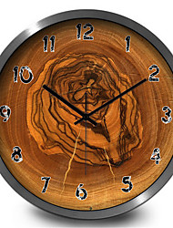 Classic Bedroom Decoration Wood Home Furnishing Quartz Wall Clock