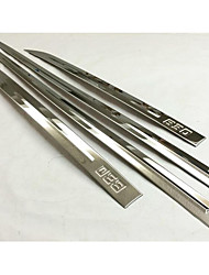 Automotive Supplies B30 Stainless Steel Door Panel Bumper Strip /Anti-Rub Metal Strip 4 Pcs