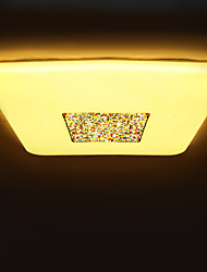 BOXIMIYA  Contemporary And Contracted, Balcony Porch Three Color Changing Light LED Square Dome Light 34 Cm in Diameter