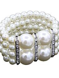 Bracelet Bracelets de rive Alliage / Imitation de perle / Strass Mariage / Soirée / Quotidien / Décontracté Bijoux Cadeau Argent,1pc