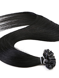 Neitsi 24inch Straight Remy Hair Extension Prebonded U Nail Tip Hair Bundles 25g/lot