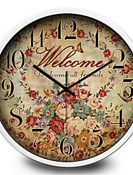 Personality Creative Living Room Office Essential Metal Quartz Retro Silent Quartz Wall Clock