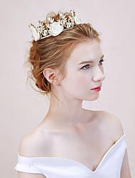 Mujer Aleación Celada-Boda Tiaras 1 Pieza Blanco Flor 40