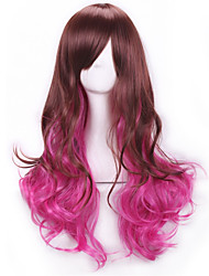 Brown Rose Red Peruca Long Curly Hair Wigs Pelucas Lolita Wigs Synthetic Wigs Perruque Femme Anime Ombre Cosplay Wigs