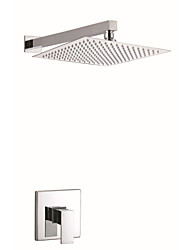 Contemporary Shower Only Widespread with  Ceramic Valve Single Handle One Hole for  Chrome , Shower Faucet