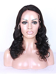 Unprocessed Human Virgin Hair Natural Black Color Big Loose Curly Full Lace Wig with Baby Hair