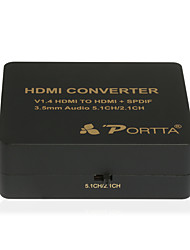 PORTTA 4PETHHA V1.4 HDMI to HDMI +SPDIF /3.5mm Audio Mini Converter 5.1CH/2.1CH