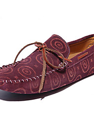 Men's Clogs & Mules Leather Casual Low Heel Others Blue Green Burgundy Walking