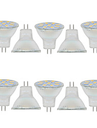 2W GU4(MR11) Decoration Light MR11 9 SMD 5730 280LM lm Warm White / Cool White Decorative 9-30 V 10 pcs