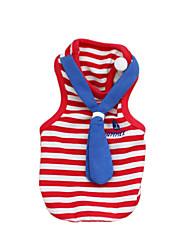 Chat Chien Tee-shirt Vêtements pour Chien Mode Britannique Rouge Bleu