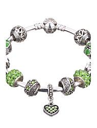 Femme Filles´ Charmes pour Bracelets Bracelets Rigides Manchettes Bracelets Bracelets de rive Bracelets en Argent CristalStrass Plaqué
