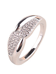 Fashion lady ring copper material inlaid zircon ring rose gold platinum