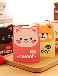 Mini Cartoon Animal Head Notepad (Random Color)