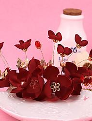 Women's / Flower Girl's Alloy / Fabric Headpiece-Wedding / Special Occasion Wreaths 1 Piece