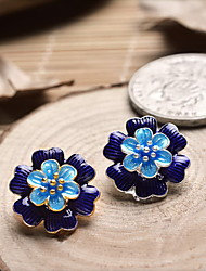 DIY Jewelry Blue Flower Style Charm