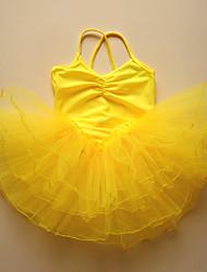 Ballet Dresses Children's Performance Spandex Ruched 1 Piece  Ballet Sleeveless