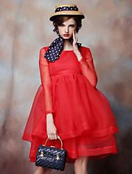 Pour My Fair Lady® Femme Col en U Manche Longues Au dessus des genoux Robes-1203001