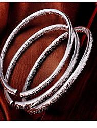Feminino Bracelete Moda Prata de Lei Jóias Jóias Para